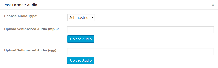 Audio Type Self-hosted